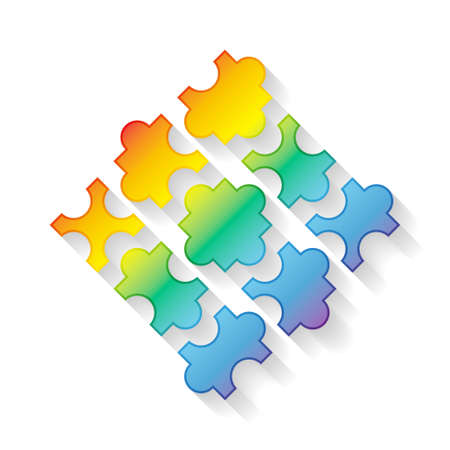 3D puzzle pieces. Vector illustration EPS10