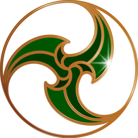 Celtic pattern triskel. A Vector illustration as element of Scandinavian or Celtic ornament.  イラスト・ベクター素材