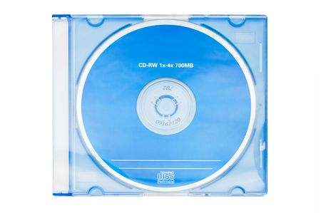a blank blue cd-rw