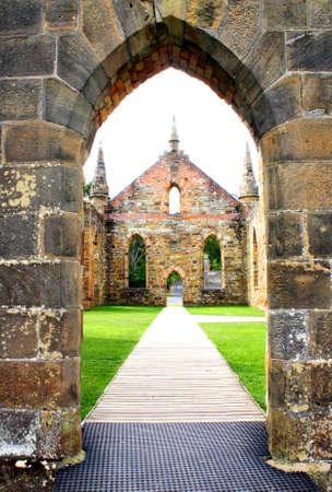 convict: Convict built church - Port Arthur TAS