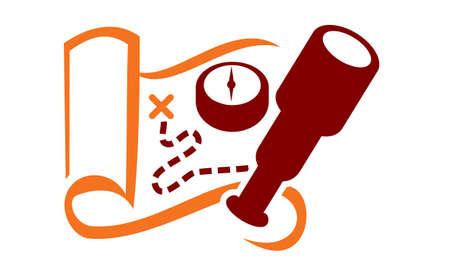 Adventure Logo Ilustrace