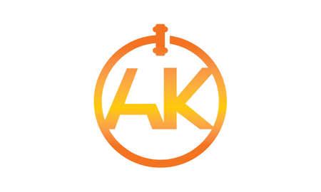 autoridad: Letra de Subastas en Línea Global AK Vectores