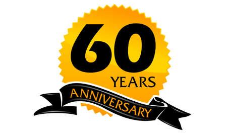 60 Years Ribbon Anniversary