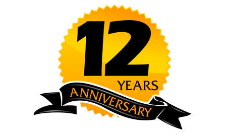 12 Years Ribbon Anniversary