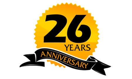 26 Years Ribbon Anniversary Imagens - 75937995