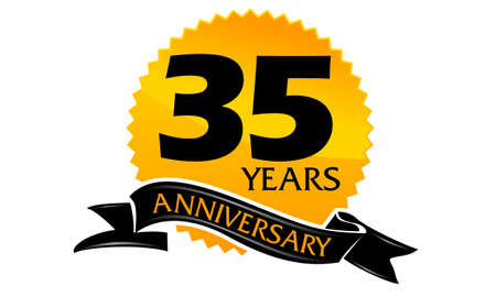 35 Years Ribbon Anniversary