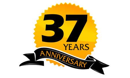 37 Years Ribbon Anniversary