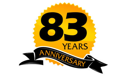83 Years Ribbon Anniversary Çizim