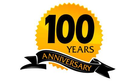 100 Years Ribbon Anniversary