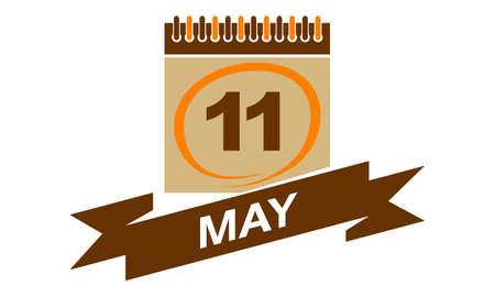 11 May Calendar with Ribbon