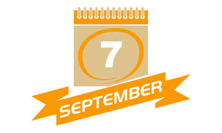 7 September Calendar with Ribbon