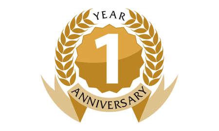 1 Years Ribbon Anniversary