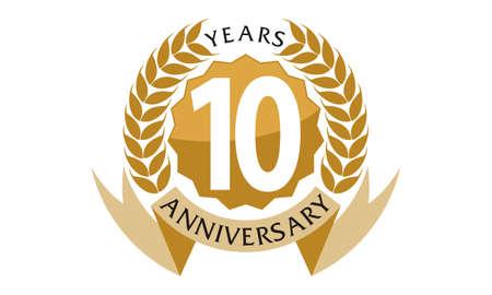 10 Years Ribbon Anniversary