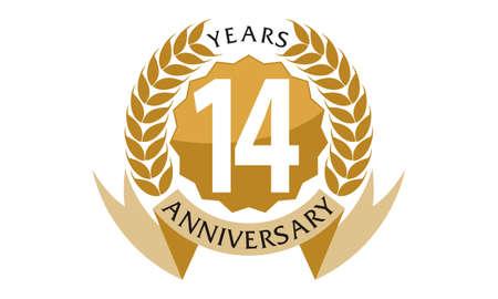 14 Years Ribbon Anniversary