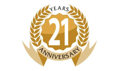 21 Years Ribbon Anniversary