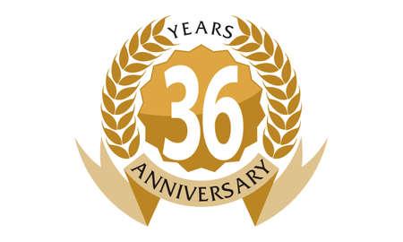 36 Years Ribbon Anniversary