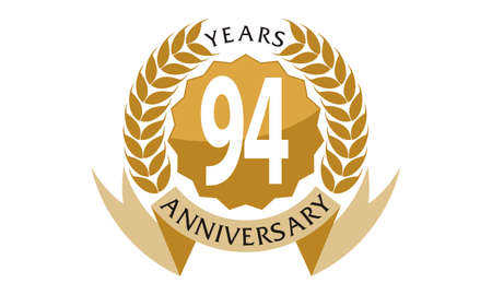 94 Years Ribbon Anniversary Illustration