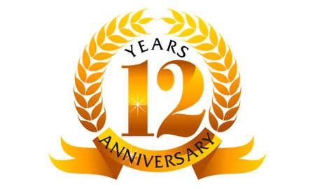 12 Years Ribbon Anniversary