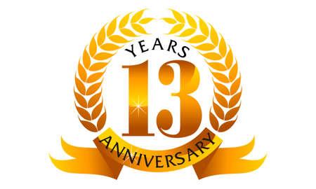 13 Years Ribbon Anniversary
