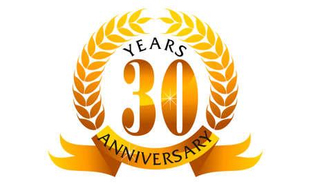 30 Years Ribbon Anniversary
