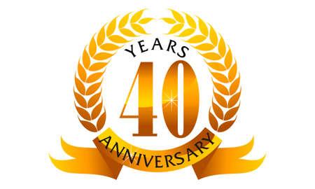 40 Years Ribbon Anniversary