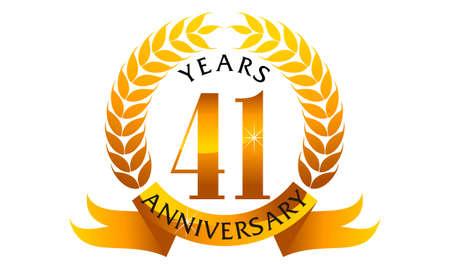 41 Years Ribbon Anniversary