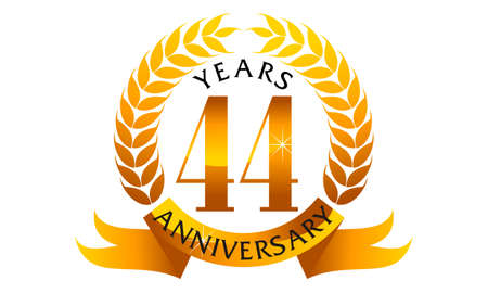 44 Years Ribbon Anniversary