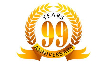 99 Years Ribbon Anniversary