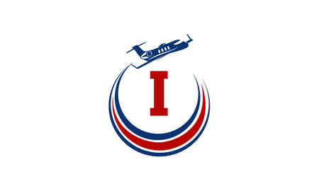 Airplane Logo Initial T