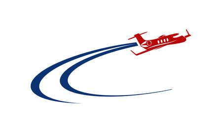 Flugzeug Logo Standard-Bild - 76191992