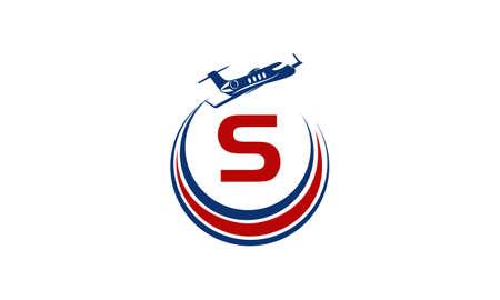 Airplane Logo Initial S