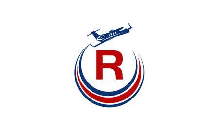Airplane Logo Initial R