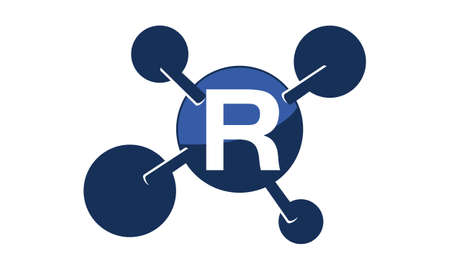 Synergy Logo Initial R Illustration