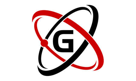 atomic symbol: Atom Technology Initial G Illustration