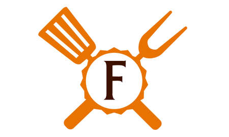 Logo Restaurant Letter F