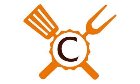 Logo Restaurant Letter C