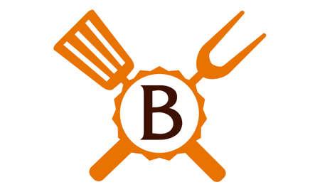 Logo Restaurant Letter B