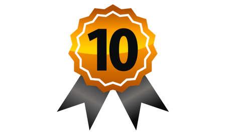 Emblem Best Quality Number 10