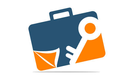 targets: Briefcase Key Document Illustration