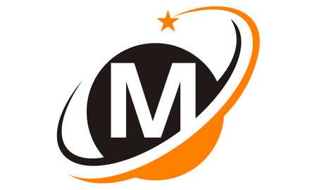 Star Swoosh Letter M