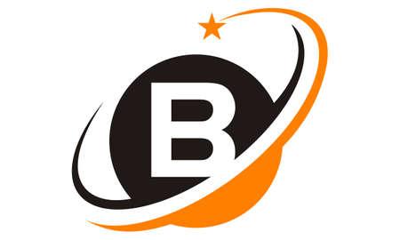 Star swoosh letter B.  イラスト・ベクター素材
