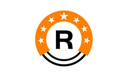 Star Union Initial R Banque d'images - 76634044