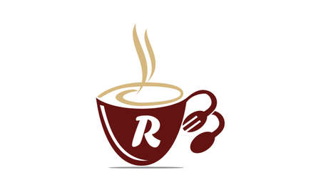 Coffee Cup Restaurant Letter R