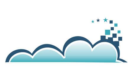 Cloud Pixel Illustration