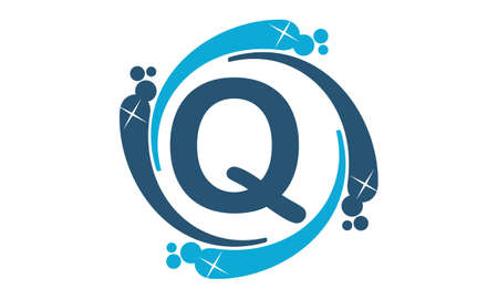 Water Clean Service Abbreviation Letter Q