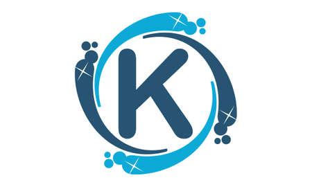 water liquid letter: Water Clean Service Abbreviation Letter K