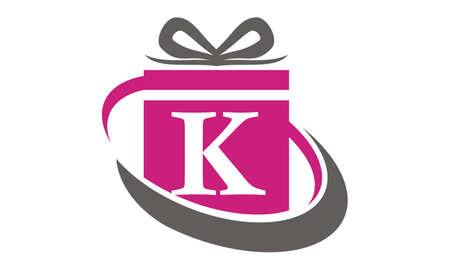 Gift Box Ribbon Letter K