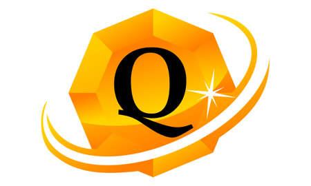 Diamond Swoosh Initial Q