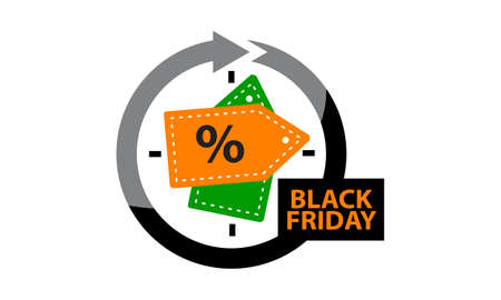 retailer: Black Friday Discount Illustration