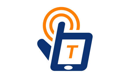 t cell: Hand Phone Solutions Center Initial T Illustration